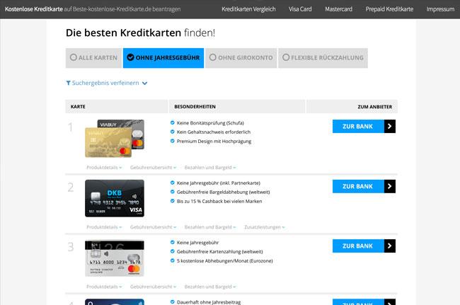 www.beste-kostenlose-kreditkarte.de